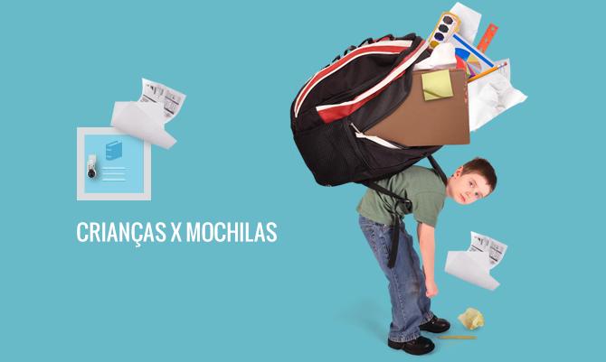 Excesso de peso nas mochilas das crianças pode causar sérios problemas de coluna na fase adulta